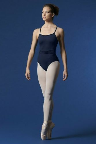 Mirella by Bloch Ladies Dance Camisole Leotard with Velvet Panels X Back M2168